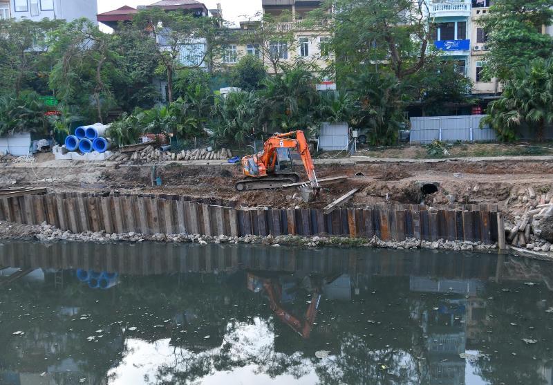Thi công hệ thống cống ngầm gom nước thải sông Tô Lịch -0