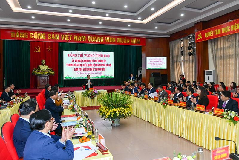 Sớm đưa huyện Phú Xuyên thành đô thị vệ tinh của Thủ đô -0