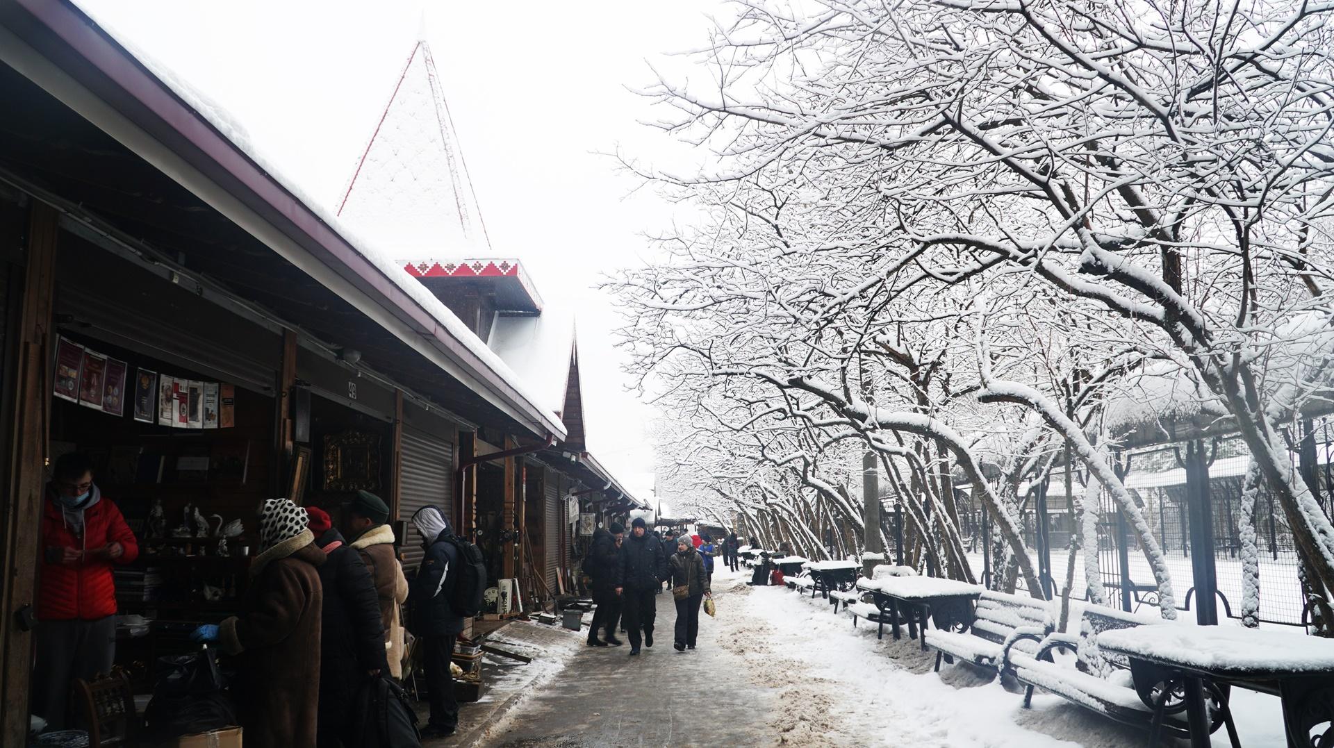 Năm mới đi chợ đồ cũ ở Moscow -0