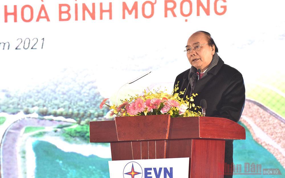 Thủ tướng Nguyễn Xuân Phúc dự khởi công Công trình Nhà máy Thuỷ điện Hoà Bình mở rộng -0