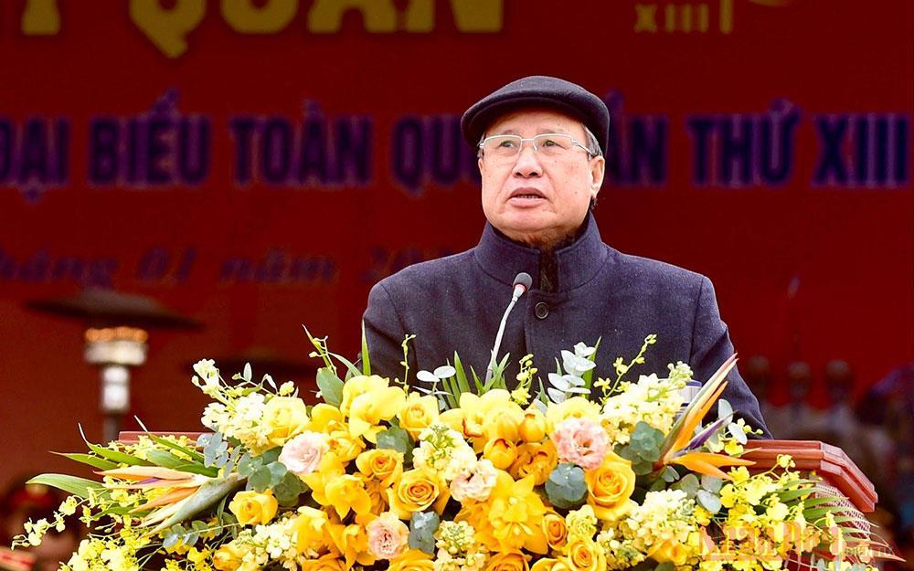 Lễ xuất quân, diễn tập phương án bảo vệ Đại hội Đảng toàn quốc lần thứ XIII -1