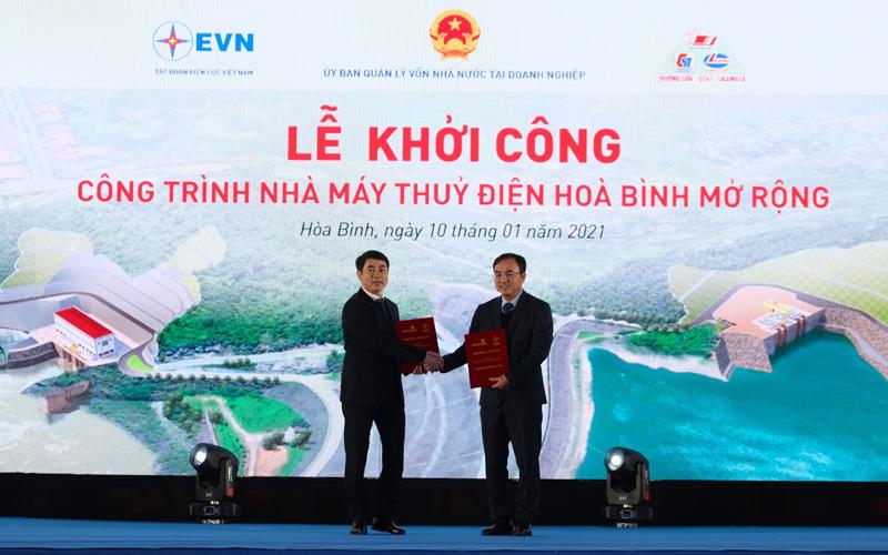 Vietcombank cấp khoản tín dụng 4.000 tỷ đồng tài trợ xây dựng công trình nhà máy thủy điện Hòa Bình mở rộng của Tập đoàn Điện lực Việt Nam -0
