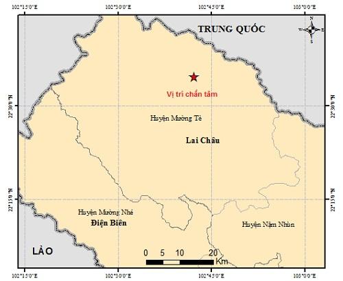 Động đất 3,6 độ tại Mường Tè, Lai Châu