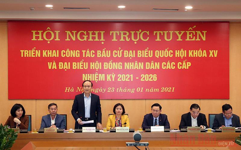 Hà Nội chuẩn bị kỹ lưỡng cho công tác bầu cử đại biểu Quốc hội và HĐND các cấp -0