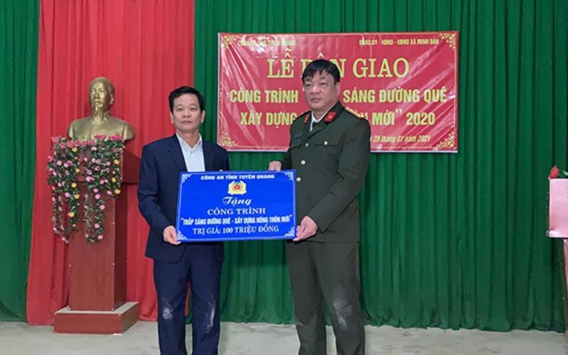 Công an tỉnh Tuyên Quang khánh thành công trình chào mừng Đại hội lần thứ XIII của Đảng -0