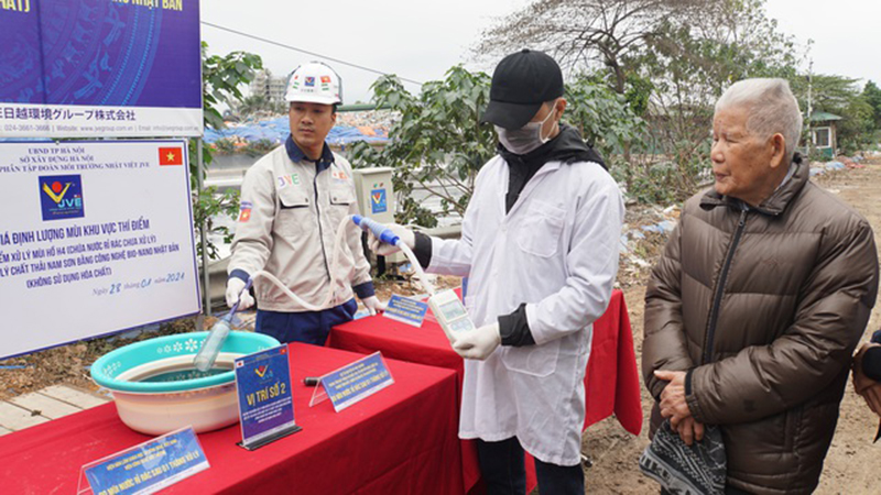 Xử lý thành công mùi hôi tại bãi rác Nam Sơn bằng công nghệ Nhật Bản -0