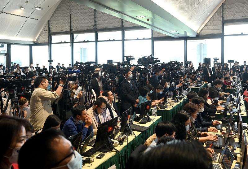 Tổng Bí thư, Chủ tịch nước Nguyễn Phú Trọng dự, phát biểu tại họp báo sau Đại hội -0