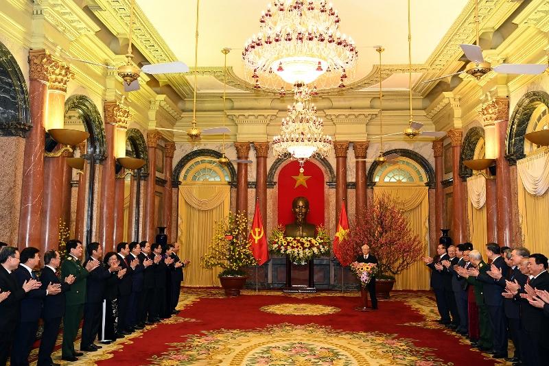 Tổng Bí thư, Chủ tịch nước Nguyễn Phú Trọng chúc Tết các đồng chí lãnh đạo, nguyên lãnh đạo Đảng, Nhà nước -0