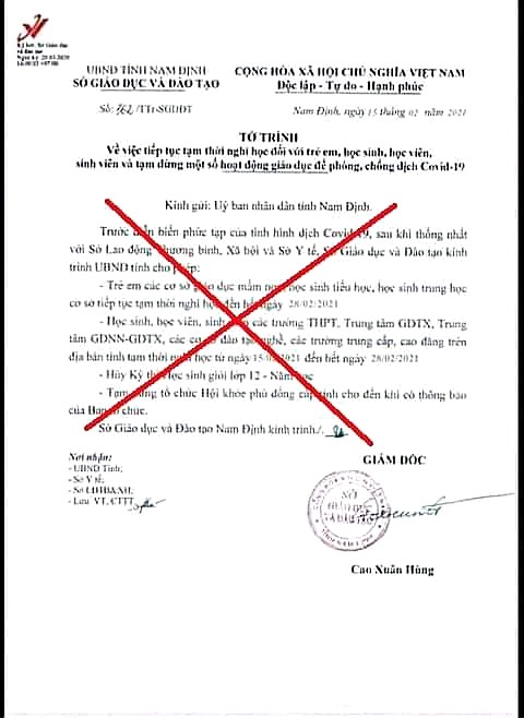 Nam Định: Giả mạo văn bản cho học sinh, sinh viên nghỉ học -0