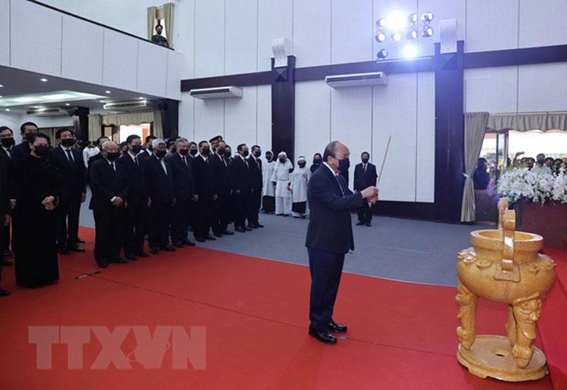 Lễ tang trọng thể nguyên Phó Thủ tướng Trương Vĩnh Trọng -0