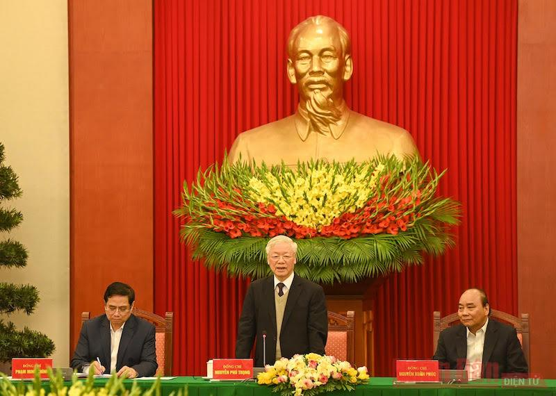 Bộ Chính trị, Ban Bí thư gặp mặt thân mật cán bộ lãnh đạo cấp cao không tái cử khóa XIII -0