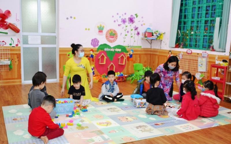 Bảo đảm an toàn cho học sinh mầm non trở lại trường ở Lào Cai -0