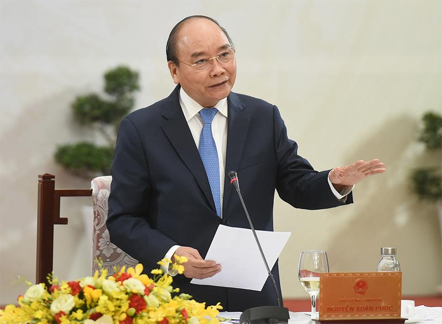 Thủ tướng Nguyễn Xuân Phúc đối thoại với các doanh nhân, trí thức tiêu biểu -0