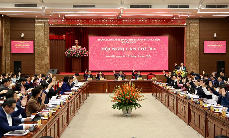Thành ủy Hà Nội thông qua 10 Chương trình công tác lớn khoá 17, nhiệm kỳ 2020-2025 -0