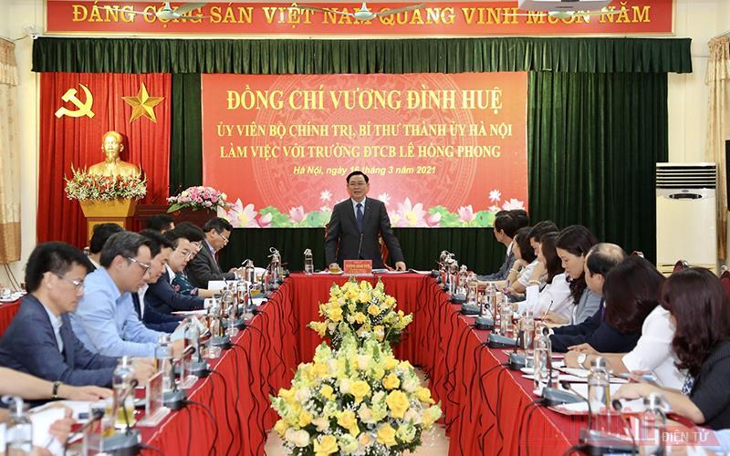 Tập trung xây dựng thương hiệu Trường Đào tạo cán bộ Lê Hồng Phong -0