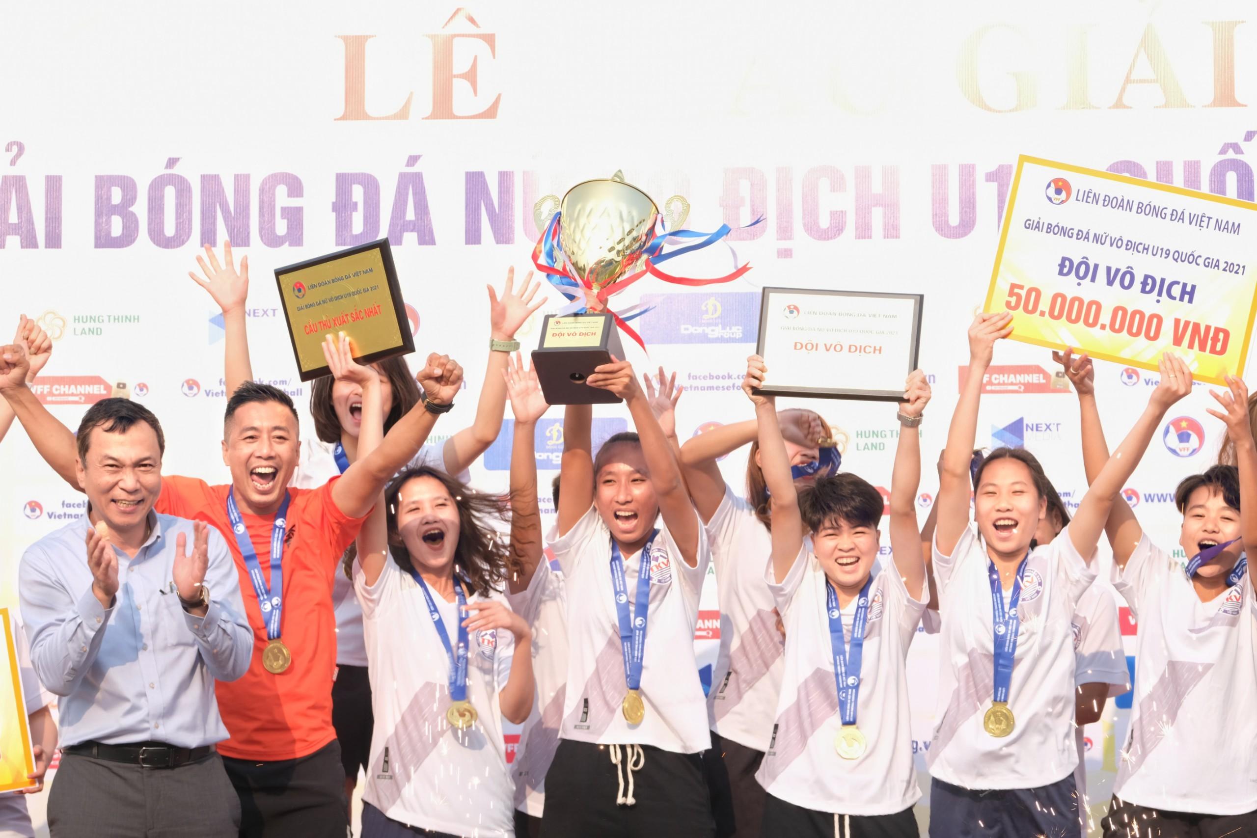 Kết thúc Giải Bóng đá nữ U19 VĐQG 2021: Phong Phú Hà Nam giành ba điểm muộn màng -0