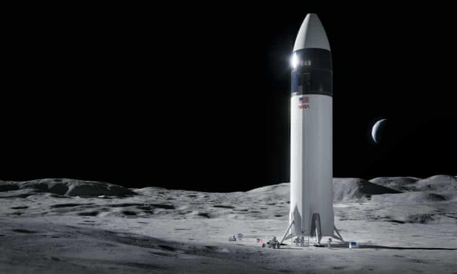 NASA yêu cầu SpaceX tạm dừng dự án tàu đổ bộ mặt trăng -0