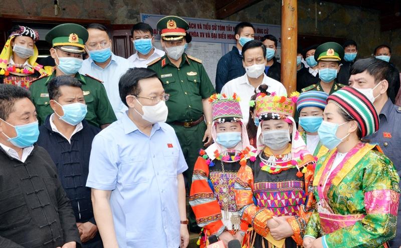 Chủ tịch Quốc hội Vương Đình Huệ thăm và làm việc tại tỉnh Hà Giang -0