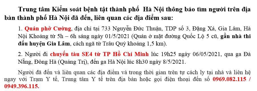 Hà Nội ghi nhận thêm bốn ca nghi nhiễm -0