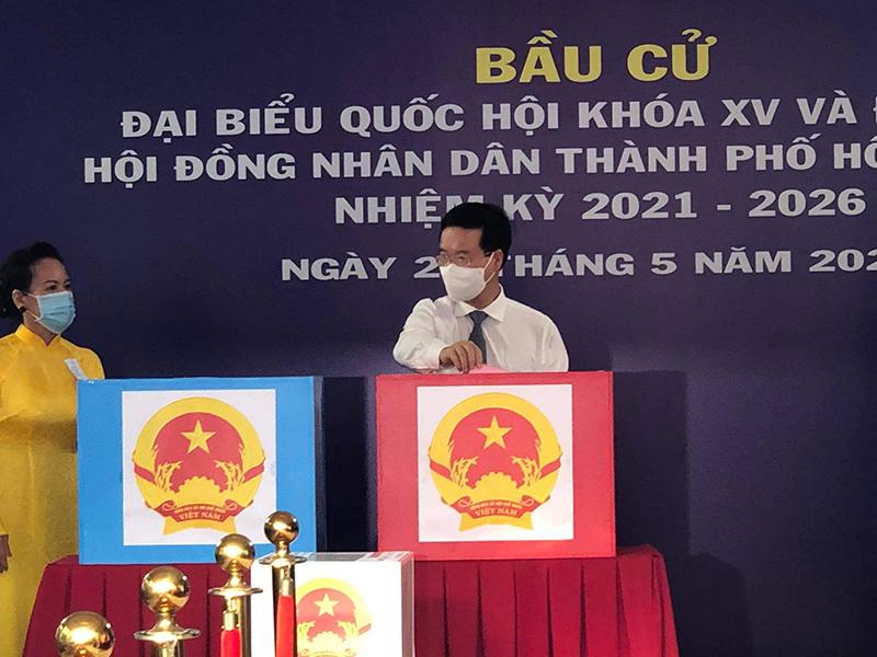 Đồng chí Võ Văn Thưởng bỏ phiếu tại TP Hồ Chí Minh -0