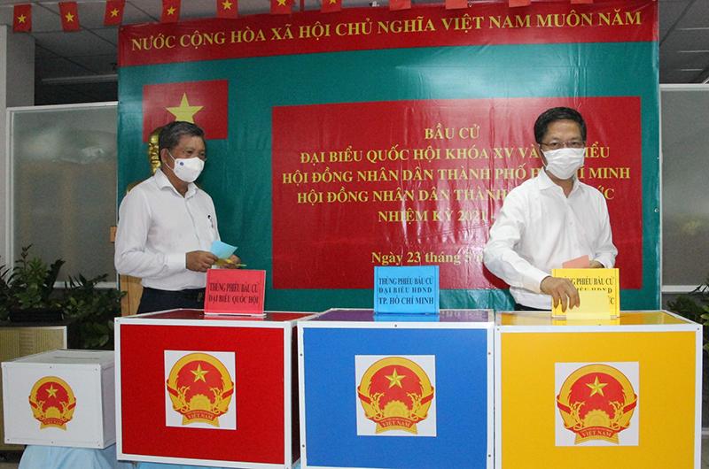 Trưởng Ban Kinh tế Trung ương Trần Tuấn Anh bầu cử tại TP Hồ Chí Minh -0