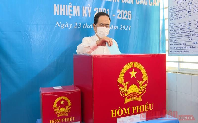 Phó Chủ tịch Thường trực Quốc hội Trần Thanh Mẫn bầu cử tại TP Cần Thơ -0