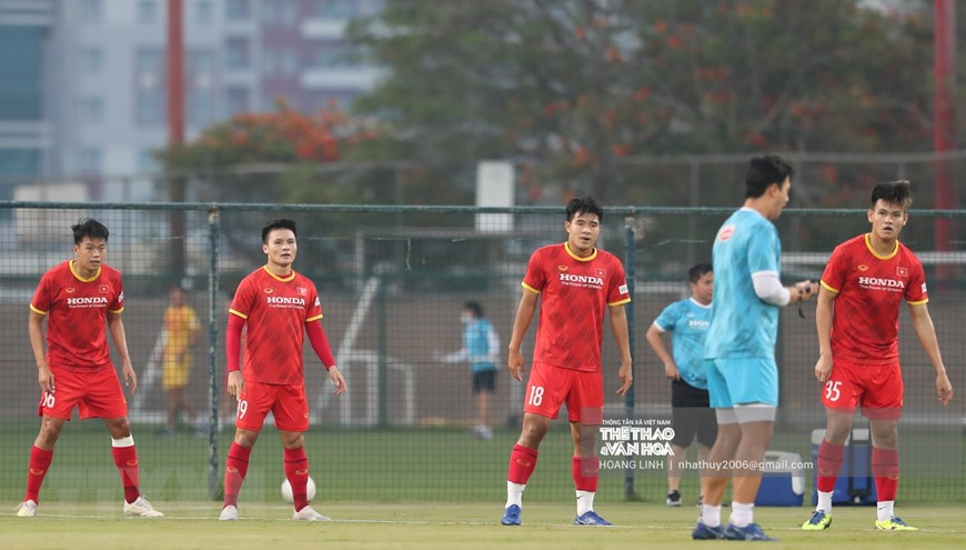 Đội tuyển Việt Nam luyện tập sẵn sàng cho trận gặp UAE -0