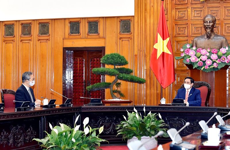 Thủ tướng Phạm Minh Chính tiếp Đại sứ Nhật Bản tại Việt Nam Yamada Takio -0