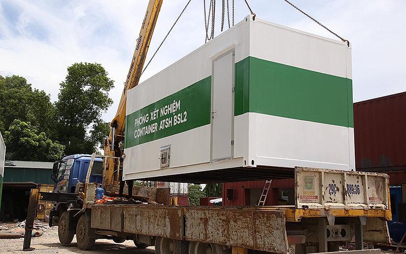 Container xét nghiệm Covid-19 áp lực âm lưu động đầu tiên ở Việt Nam -0