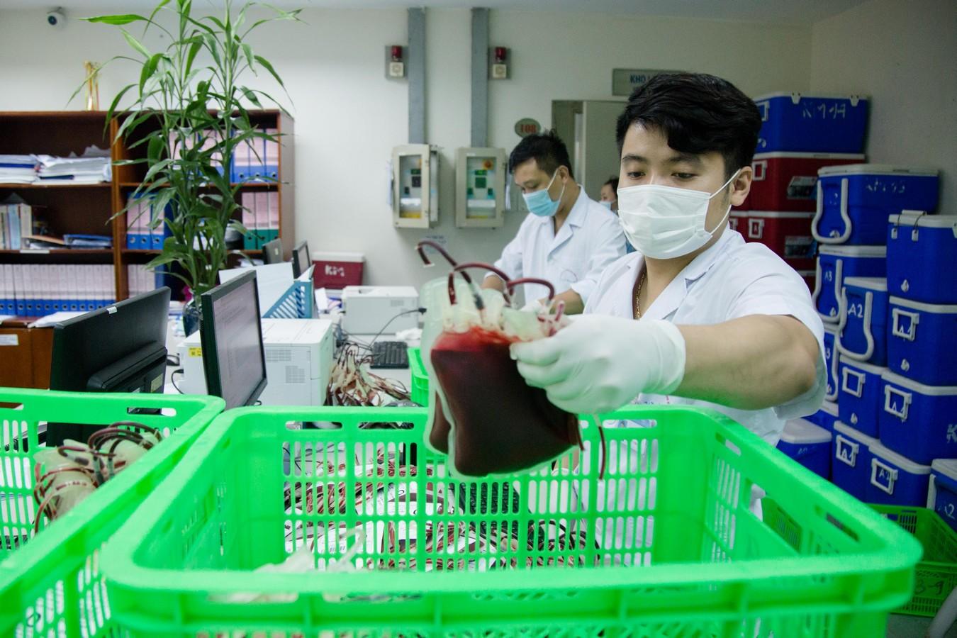 1.000 đơn vị máu từ Hà Nội chi viện cho
