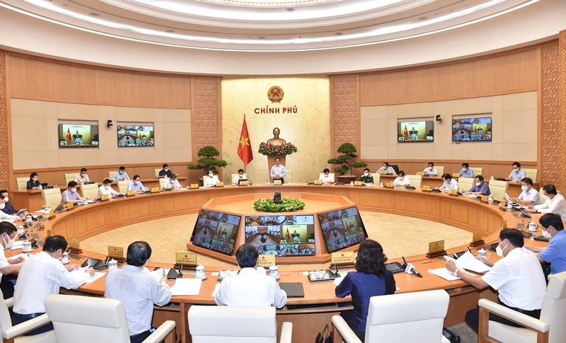 Hội nghị trực tuyến Chính phủ với các địa phươngtriển khai Nghị quyết của Quốc hội về phòng, chống dịch Covid-19 -0