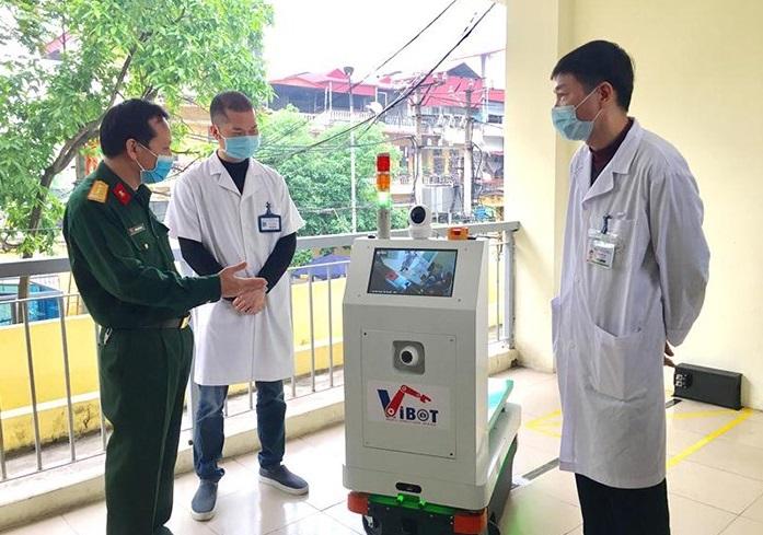 Robot VIBOT do Việt Nam phát triển hỗ trợ đắc lực phòng, chống Covid-19 -0