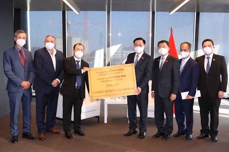 Chủ tịch Quốc hội Vương Đình Huệ làm việc với lãnh đạo một số tập đoàn, doanh nghiệp tại Áo -0