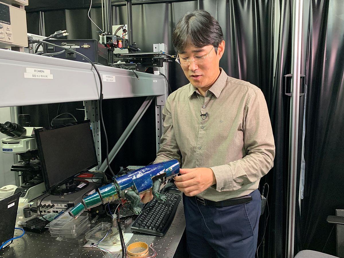 Hàn Quốc chế tạo thành công da nhân tạo đổi màu giống tắc kè hoa -0