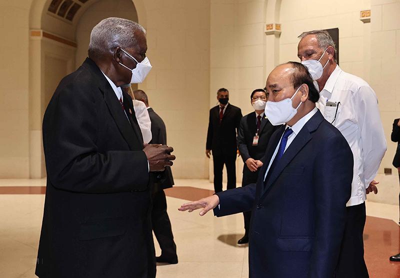 Chủ tịch nước Nguyễn Xuân Phúc hội kiến Chủ tịch Quốc hội Cuba -0
