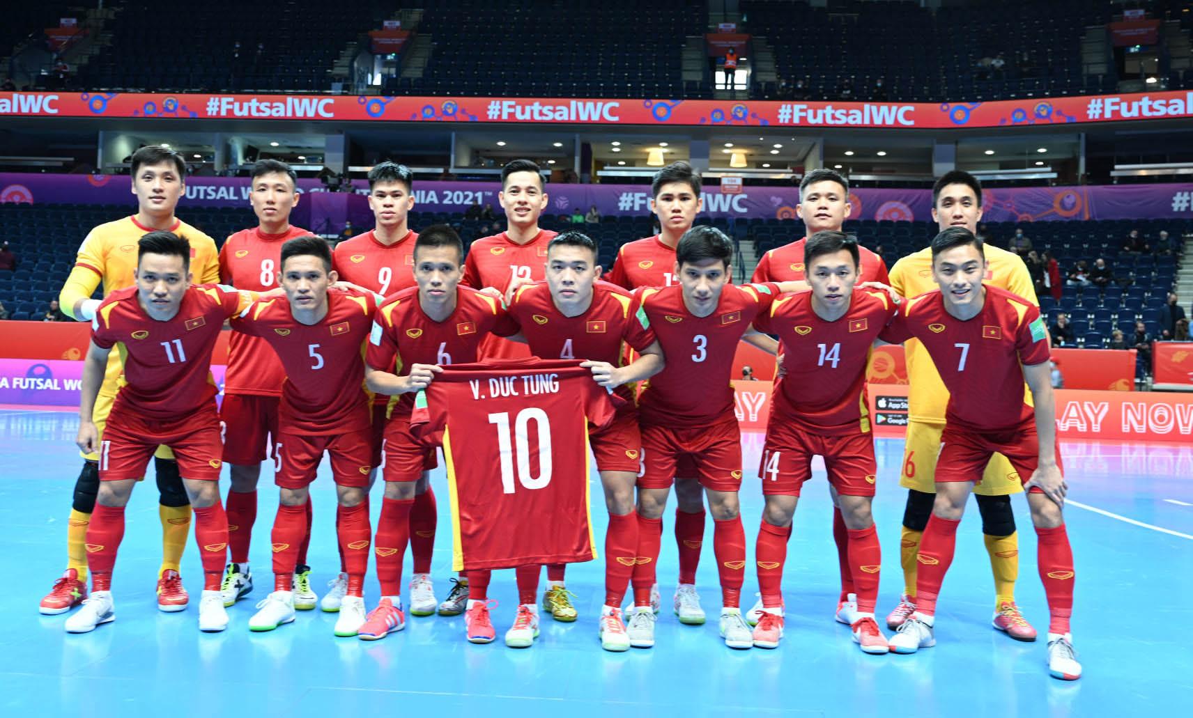 Mang ý chí kiên cường, đội tuyển futsal Việt Nam thua sát nút Nga với tỷ số 2-3 -0