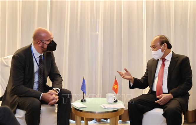 Chủ tịch nước Nguyễn Xuân Phúc tiếp xúc song phương với lãnh đạo các nước -0