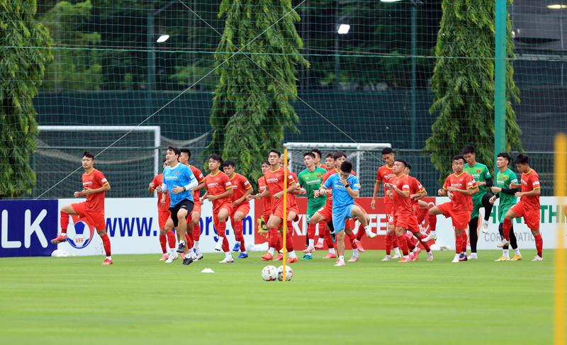 Các cầu thủ U22 Việt Nam nỗ lực để cạnh tranh suất tham dự Vòng loại U23 châu Á 2022 -0
