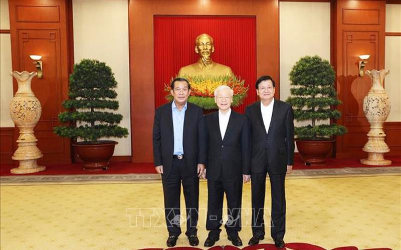 Tổng Bí thư Nguyễn Phú Trọng dự cuộc gặp cấp cao Việt Nam - Campuchia - Lào -0