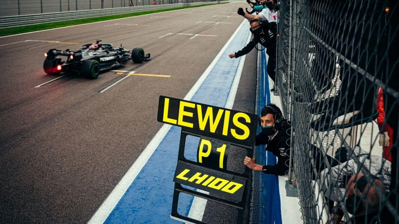 Lewis Hamilton cán mốc 100 chiến thắng -0