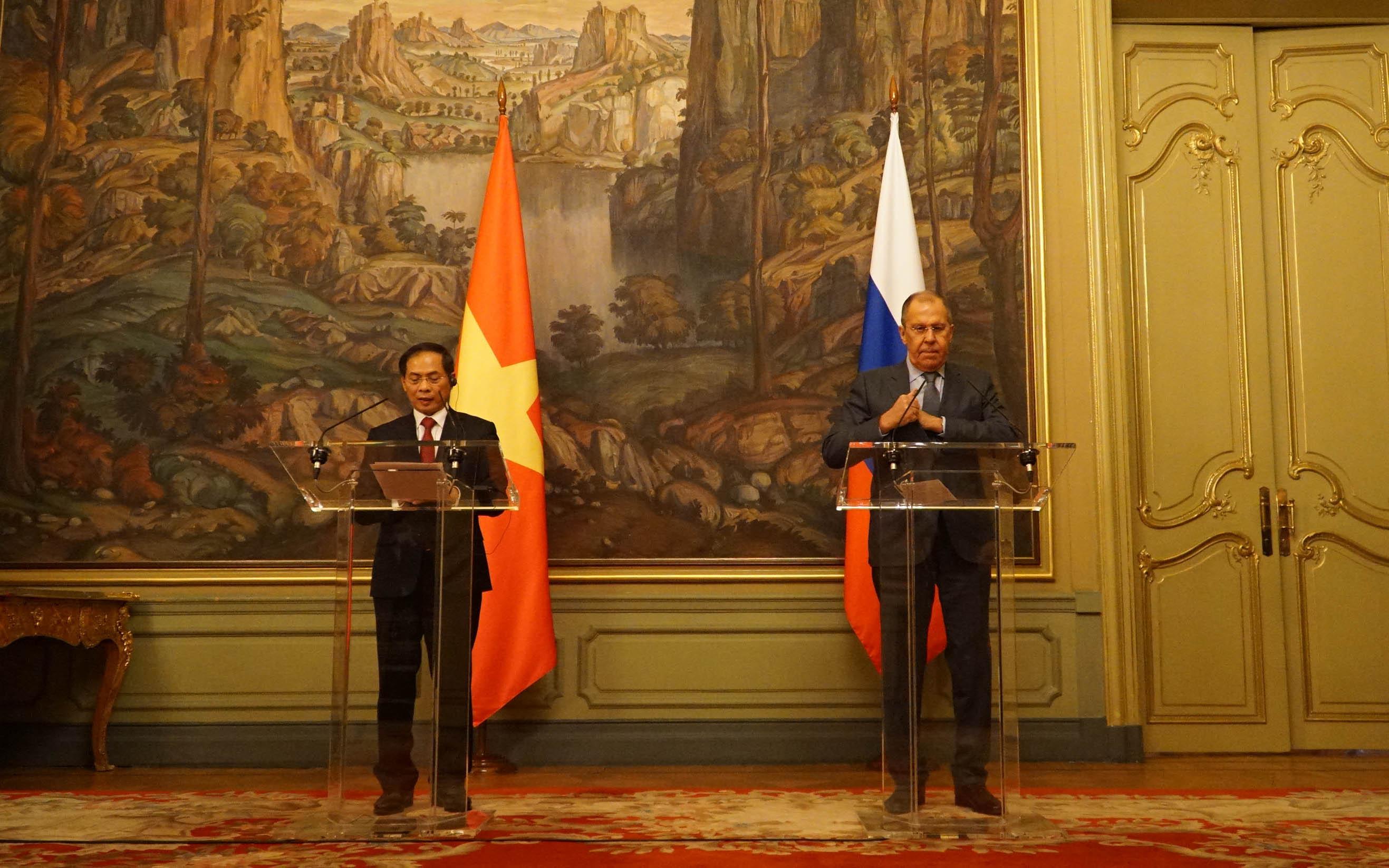 Bộ trưởng Ngoại giao Bùi Thanh Sơn hội đàm với Ngoại trưởng Nga S. Lavrov -0