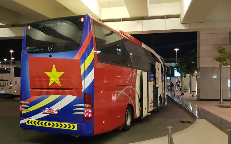 Đội tuyển Việt Nam đã tới Oman sau cuộc hành trình xuyên đêm -0