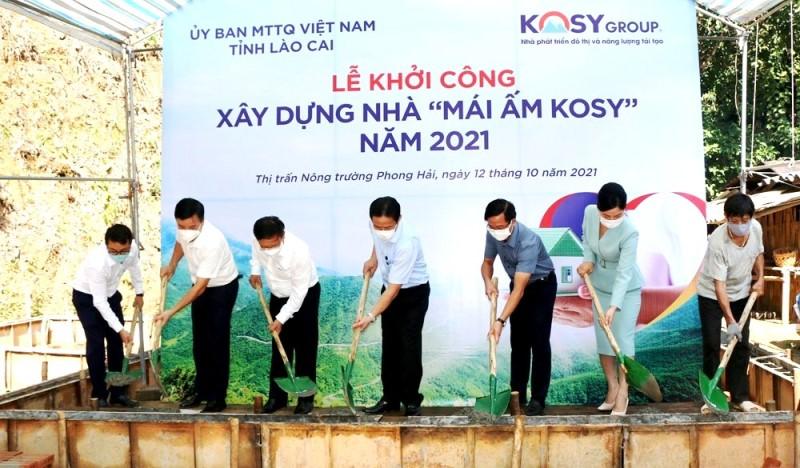 Tập đoàn Kosy ủng hộ xây dựng 200 căn nhà cho người nghèo ở Lào Cai -0