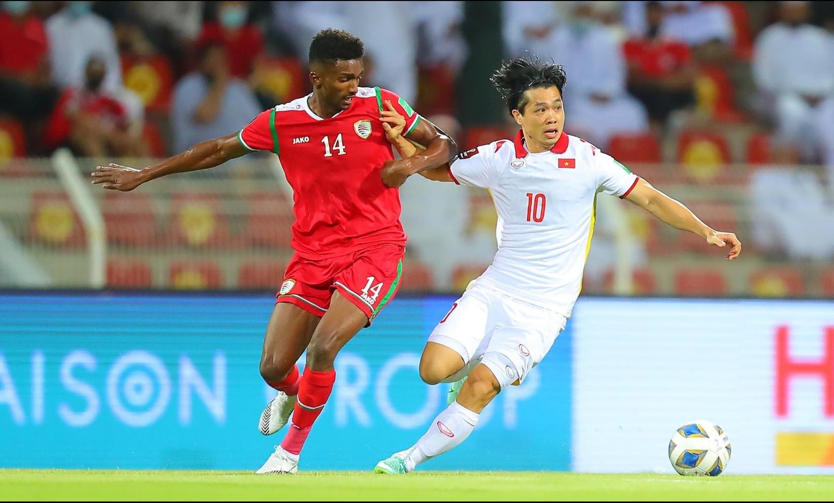 Đội tuyển Việt Nam thua ngược 1-3 Oman -0