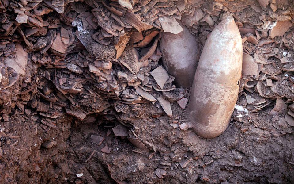Phát hiện nhà máy nấu rượu vang cổ đại ở Israel -0