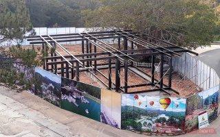 Buộc tháo dỡ công trình không phép tại Thung lũng Tình yêu