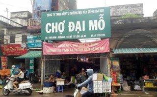 Giải quyết dứt điểm tranh chấp tại chợ Sáng Ðại Mỗ (Hà Nội)