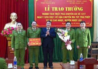 Thanh Hóa khen thưởng các đơn vị công an lập công
