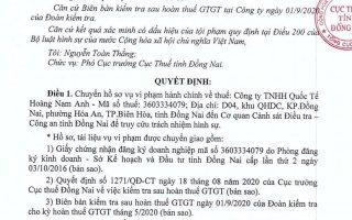 Phát hiện doanh nghiệp có dấu hiệu gian lận hàng tỷ đồng tiền hoàn thuế GTGT ở Đồng Nai