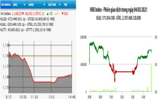 Cổ phiếu lớn lao dốc, VN-Index mất hơn 18 điểm